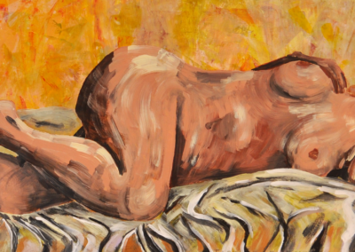 Fabrice-Knecht-Dreaming-Woman-40x120cm-Acrylic-on-Canvas