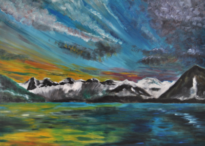 Fabrice-Knecht-Thunersee-mit-Abendlicht-80x100cm-Oil-on-Canvas