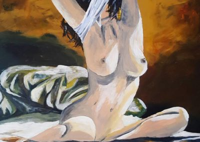 Frau-im-Sonnenlicht-60x80cm-Acrylic-on-Canvas