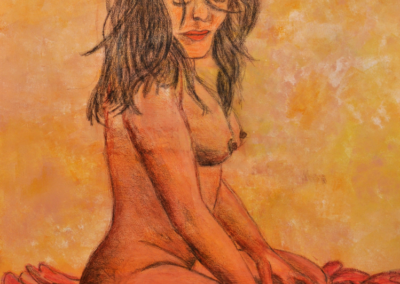 Raluca-60x80cm-Acrylic-and-Chalk-on-Canvas