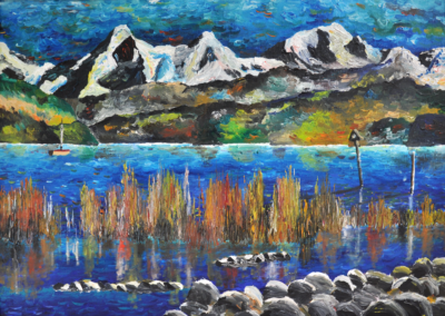 Thunersee-im-Sommer-50x70cm-Oil-on-Canvas